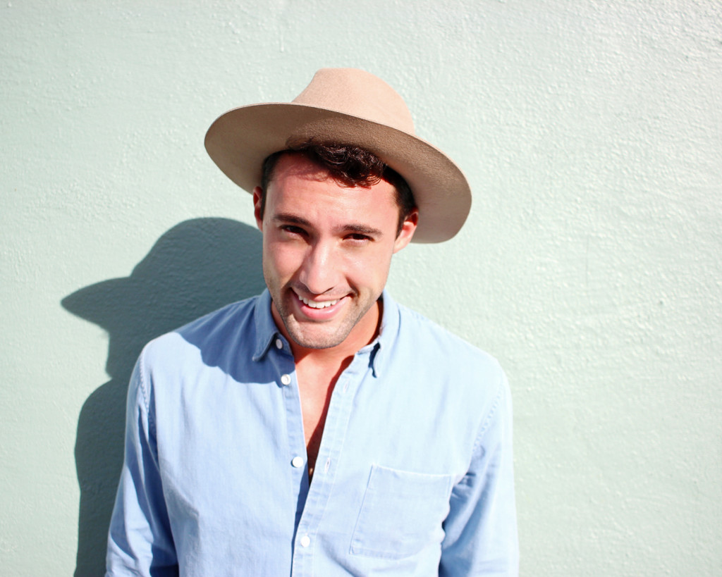 Chris, of Yummertime, in a Topman hat