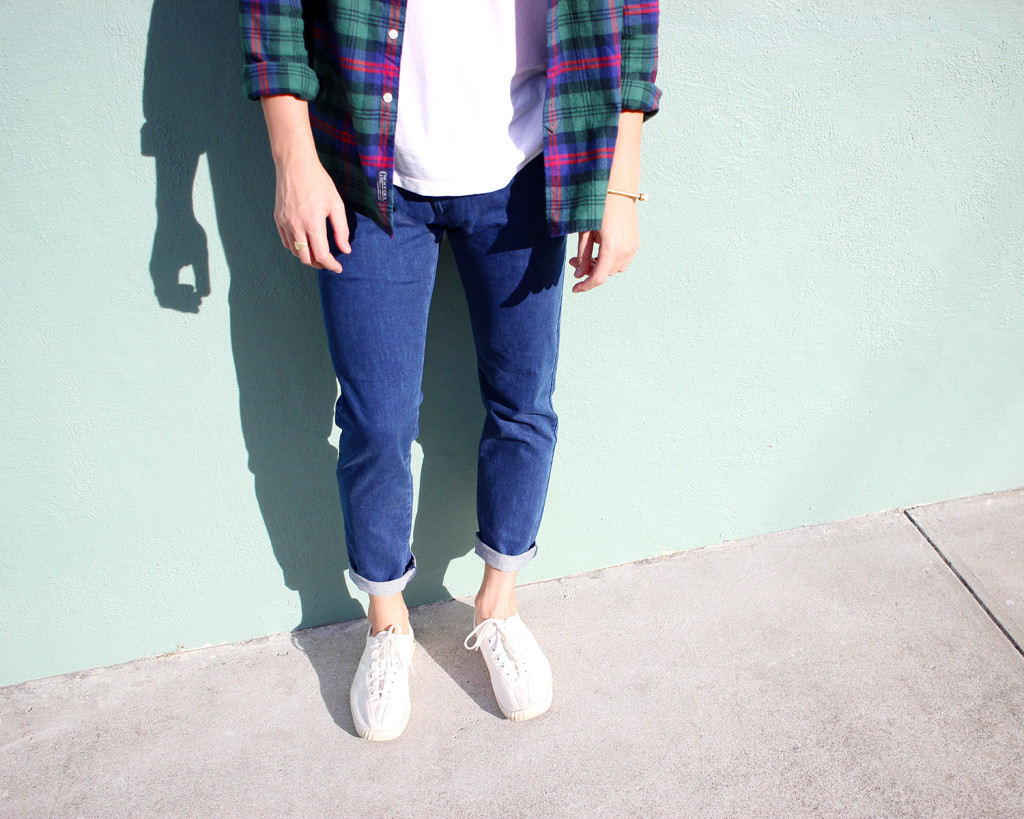 Brock, of Yummertime, in Tretorn sneakers and Topman jeans