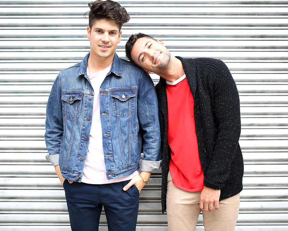 Brock and Chris, of Yummertime, style Gap x (RED)