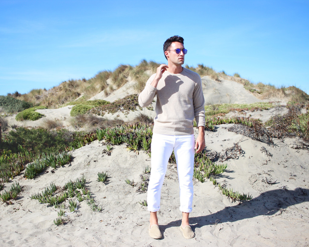Yummertime wear white after labor day in Club Monaco and Levi