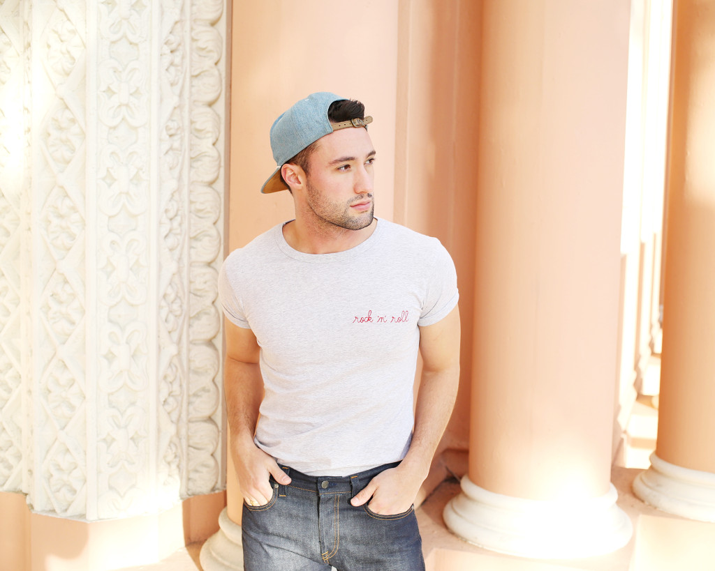Chris, of Yummertime, in Maison Labiche tee