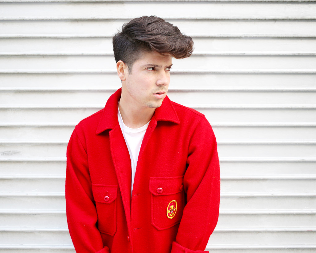 Brock, of Yummertime, in red men's coat