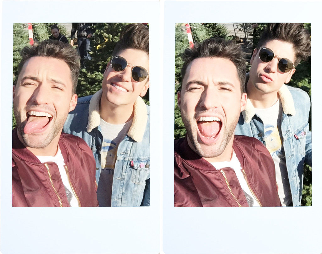 Brock and Chris, of Yummertime, Fujifilm Instax Mini 8 from Urban Outfitters