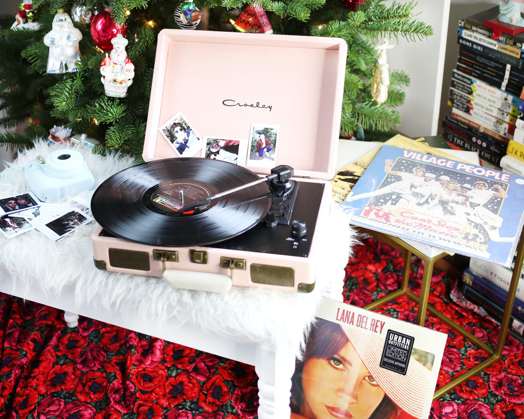 Winter essentials from Urban Outfitters, Crosley record player, Lana Del Rey, Fujifilm Instax Mini 8