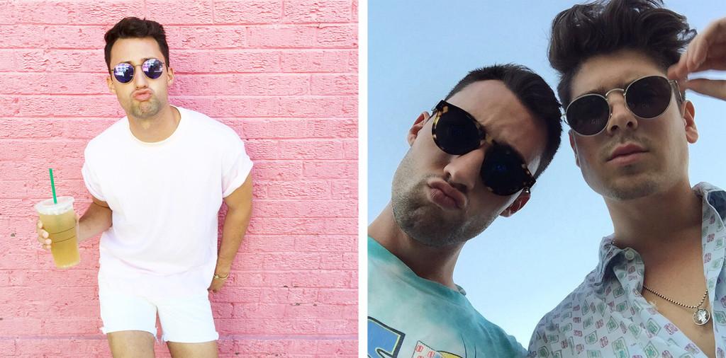 Yummertime men's Instagram style, men's sunglasses