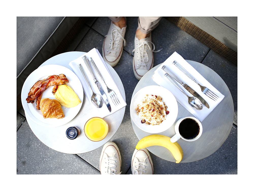 Yummertime, has breakfast on the WestHouse Terrace