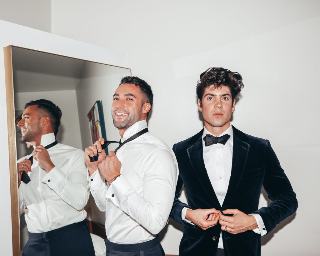What do men wear to a holiday party?