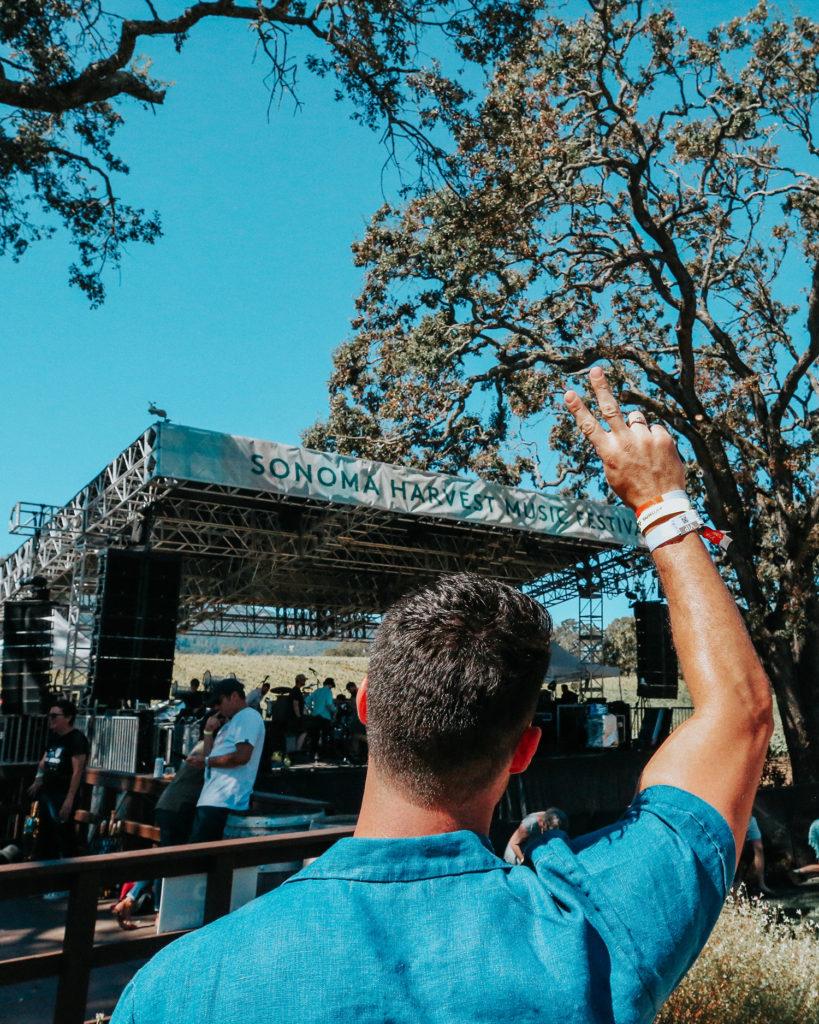 Chris Lin of Yummertime at Sonoma Harvest Music Festival
